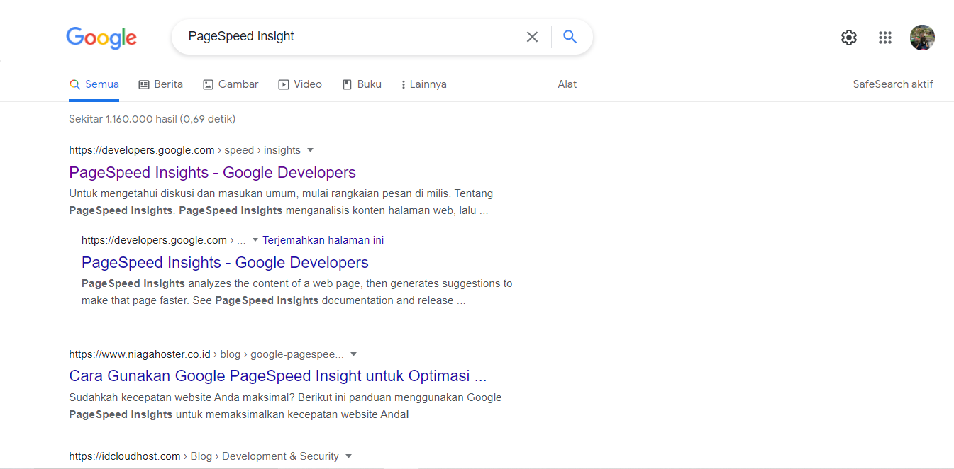 kalian mencari website PageSpeed Insight